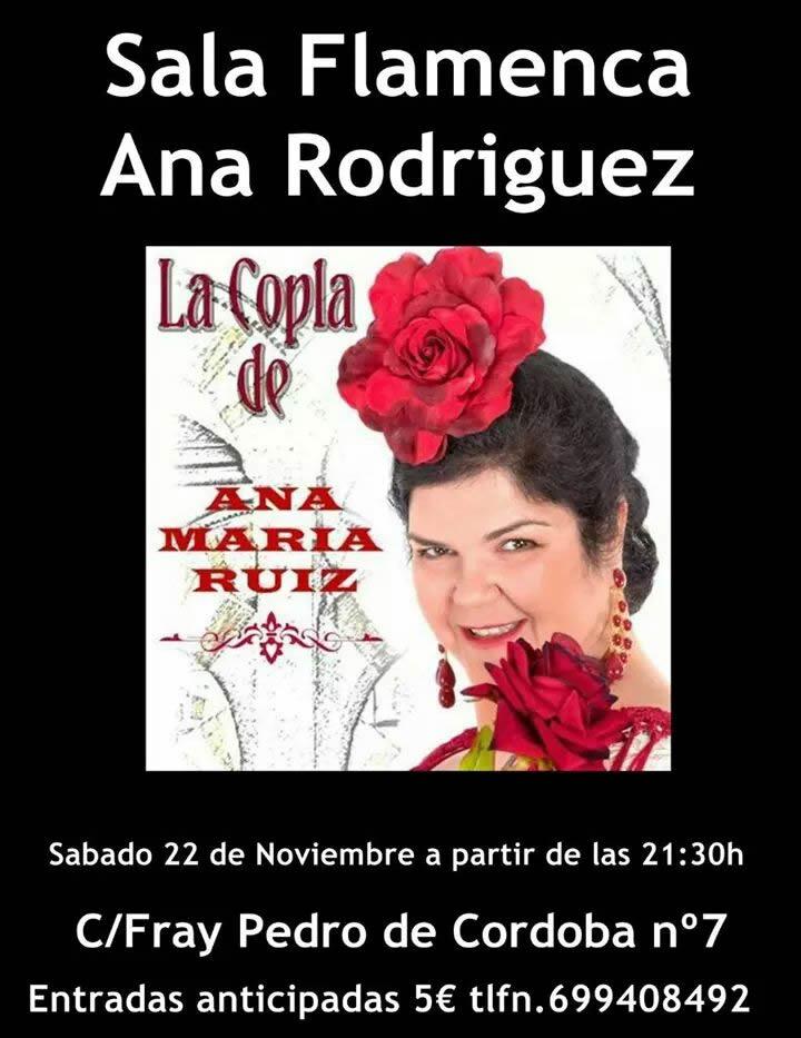Pr ximos eventos ana mar a ru z sala flamenca ana for Sala clamores proximos eventos