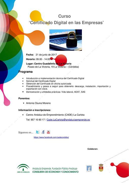 Pr ximos eventos cade provincia de c rdoba curso for Oficina certificado digital