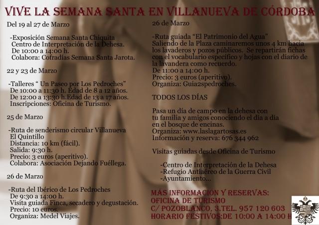 Actividades Semana Santa 2016 Villanueva