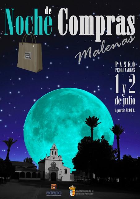 Cartel Shopping Night Malena 2