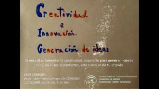 Cartel curso de creatividad 12 09 2019