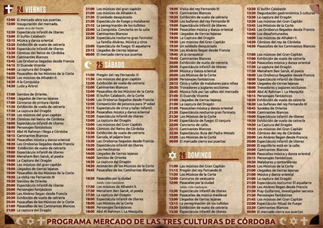 Mercado Medieval Córdoba 2020 - Mercado de las Tres Culturas - Programa_2